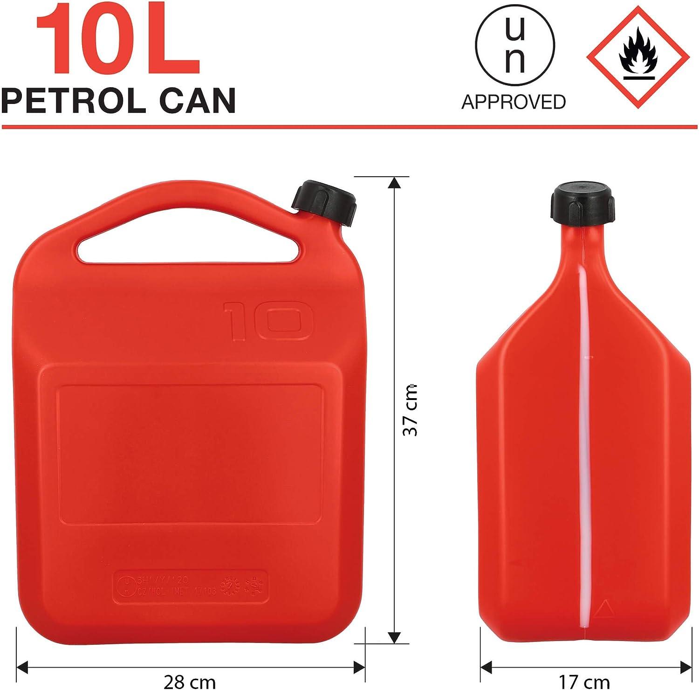 10 L. SUMEX PETRO10 Bid/ón de Gasolina o Combustible de 10 litros Homologado con Tubo y Visor de Nivel