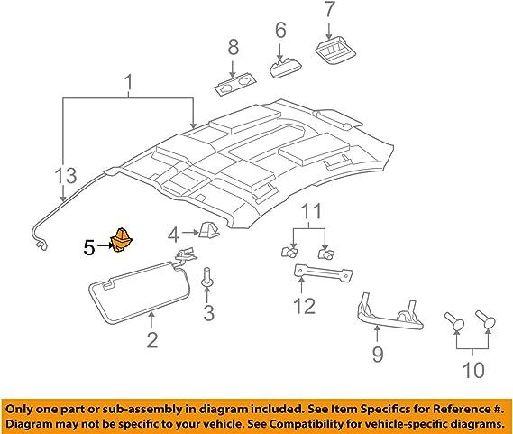 2008-2009 PONTIAC G8 BLACK SUNVISOR RETAINER SUPPORT NEW GM #  13187128