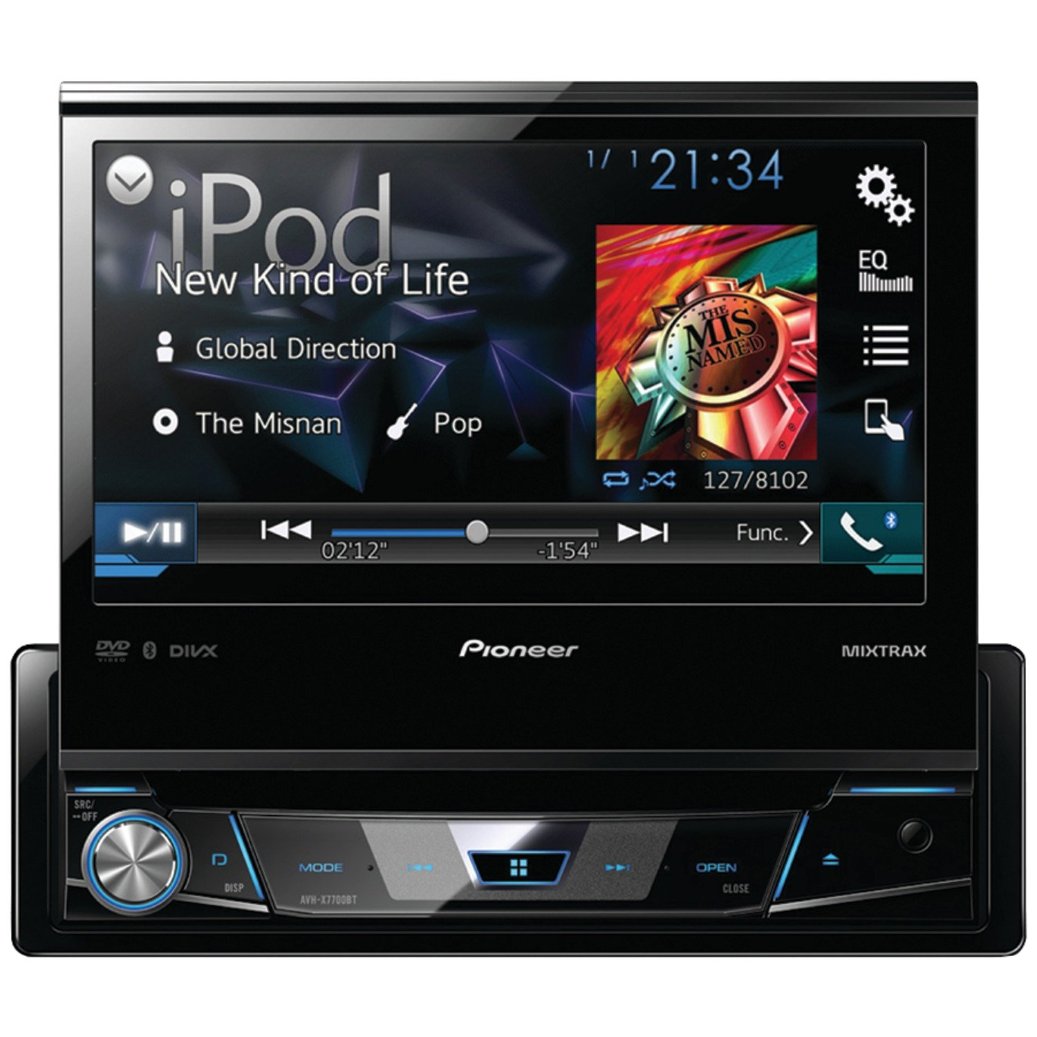71XXlIe2M3L._SL1500_ amazon com pioneer avhx7700bt 7 inch flipout bt dvd usb aux nav r  at cos-gaming.co
