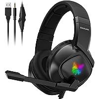 ONIKUMA Fone de ouvido para jogos PS4 com cancelamento de ruído com microfone retrátil para Xbox One K19 Fone de ouvido…