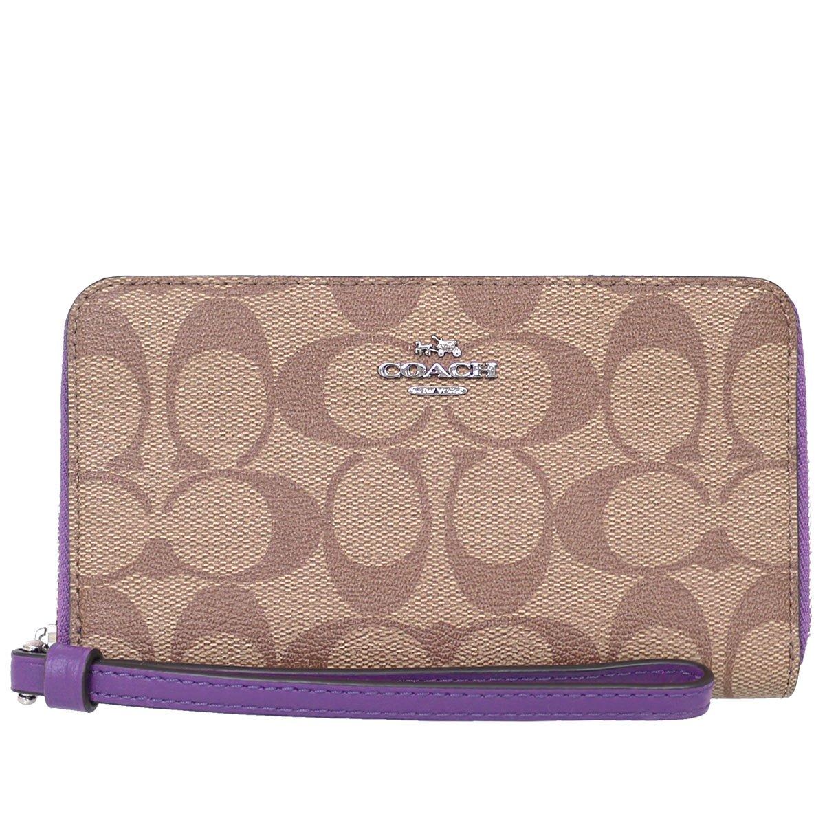 [コーチ] COACH 財布 (二つ折り財布) F57468 二つ折り財布 レディース [アウトレット品] [並行輸入品] B079VKCXG4 カーキ×ベリー カーキ×ベリー