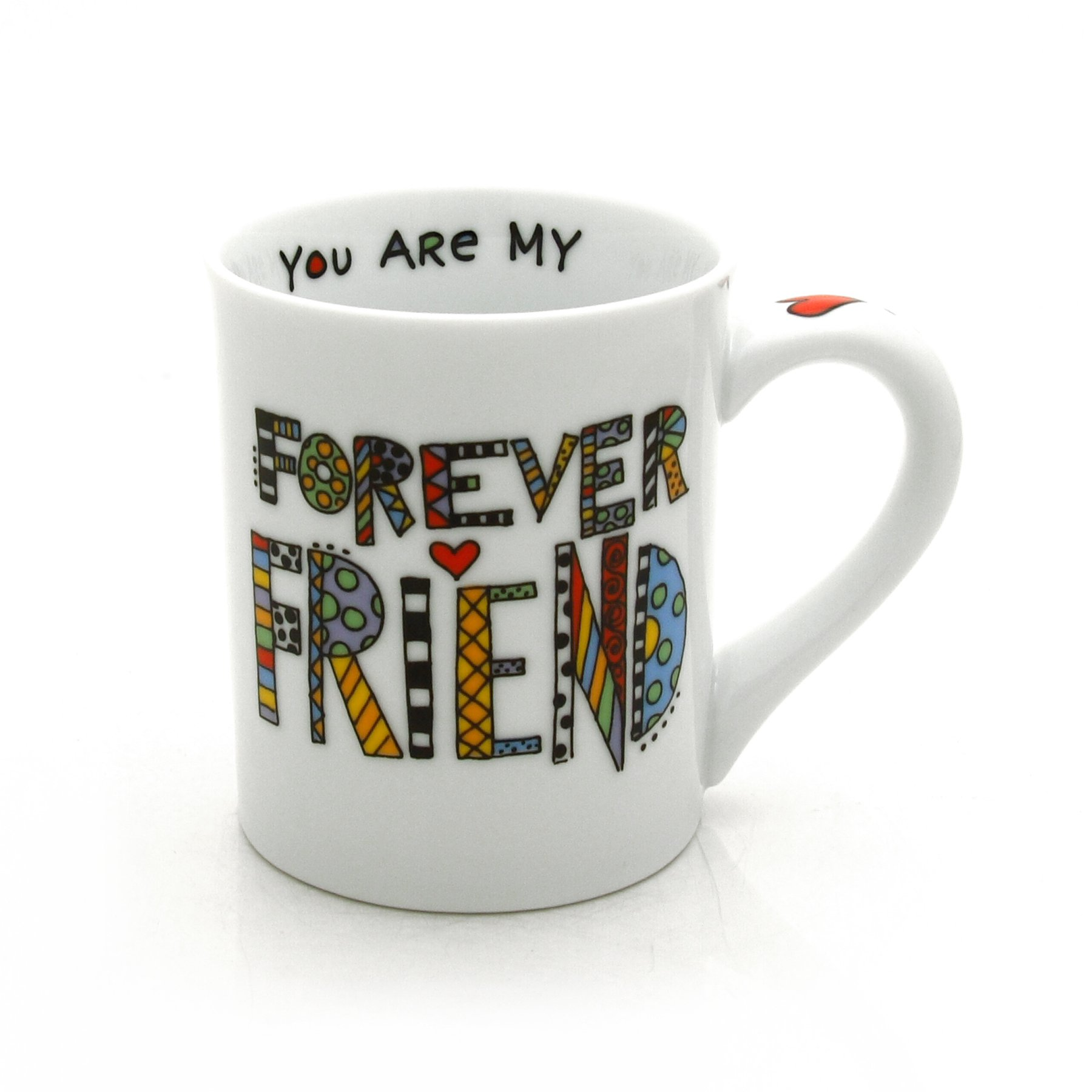 """Our Name is Mud """"Forever Friend"""" Cuppa Doodle Porcelain Mug, 16 oz."""