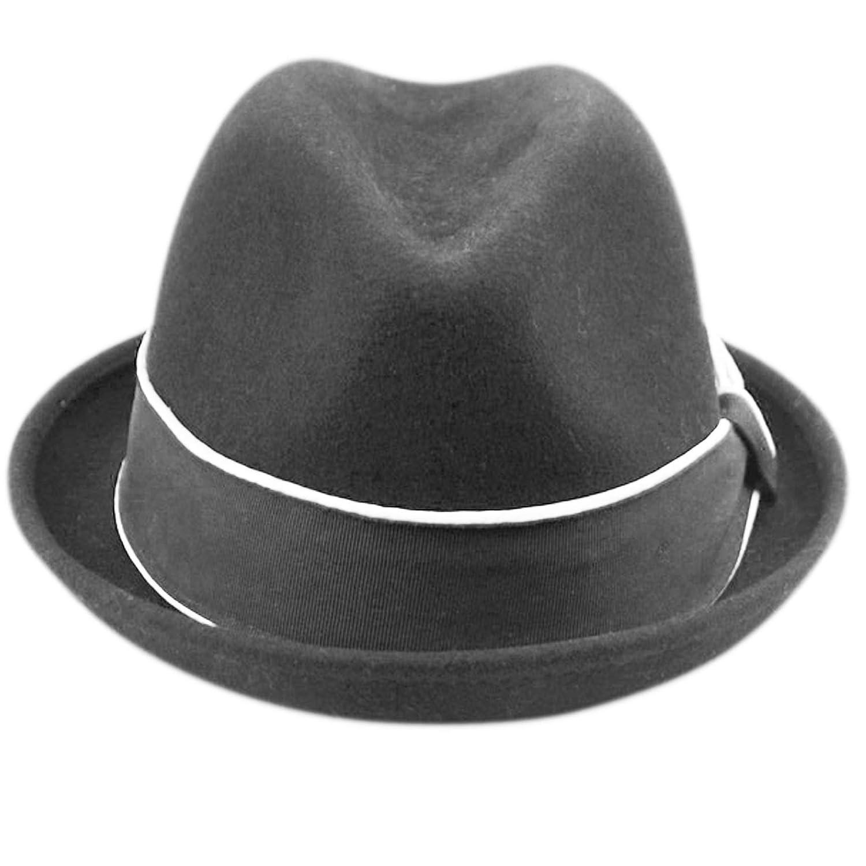 Mens Crushable Wool Felt Porkpie Fedora Hats