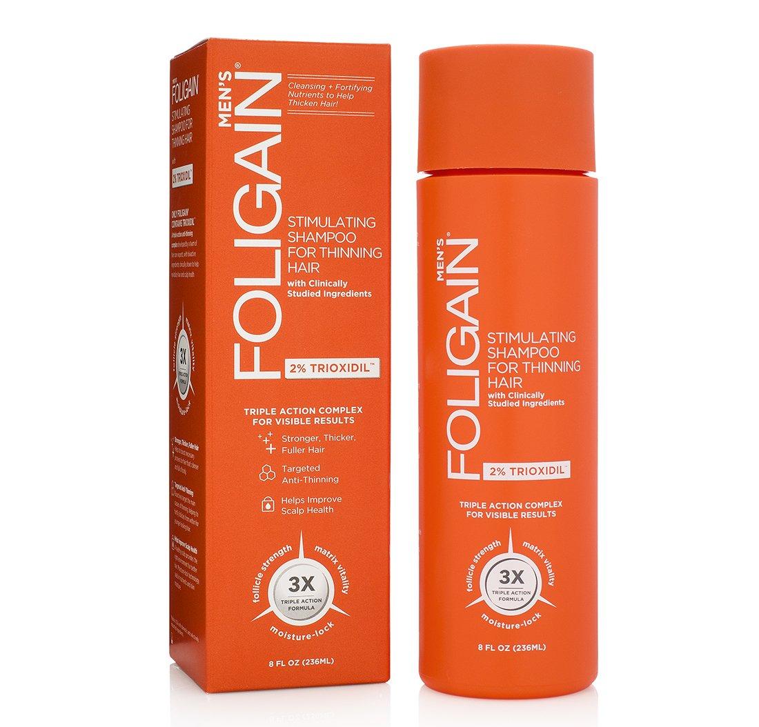 FOLIGAIN Stimulating Shampoo for Thinning Hair For Men with 2% Trioxidil (8oz) 236ml WR GROUP INC