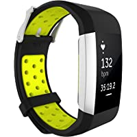 TERSELY Band for Fitbit Charge 2, Classic Sports Soft TPU Adjustable Silicone Wristbands Bands Fitness Sport Strap for Fitbit Charge 2 Charge2