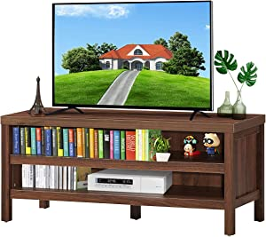 Tangkula Retro Wooden Universal TV Stand for TVs up to 45