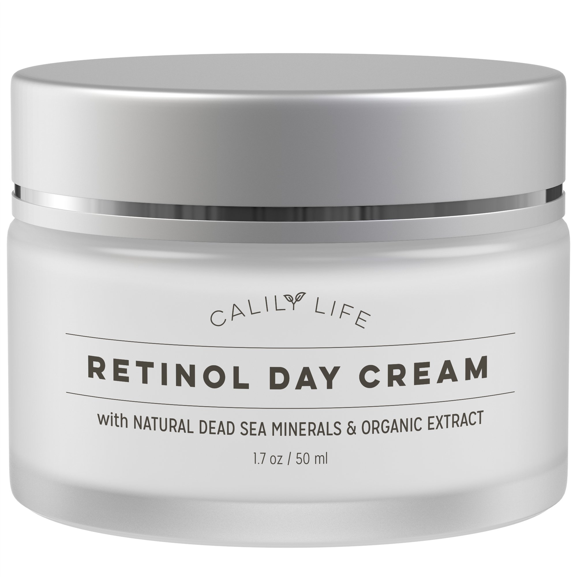 Calily Life Organic Anti-Aging Retinol Day Cream with Dead Sea Minerals, 1. 7 Oz. – Anti-Wrinkle, Hydrates, Smooths, Regenerates and Strengthens - Non-Greasy, Fast Absorbing [ENHANCED]