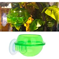 Senzeal Reptile Feeding Dish Anti-Escape Reptile Food Water Bowl Feeder Bowls Cup for Lizard Tortoise Gecko Snakes Chameleon with Suction Cup