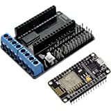 WINGONEER NodeMcu Lua ESP8266 ESP-12E CP2102 Development Board and L293D Wifi Motor Drive Expansion Board Shield Module for Arduino