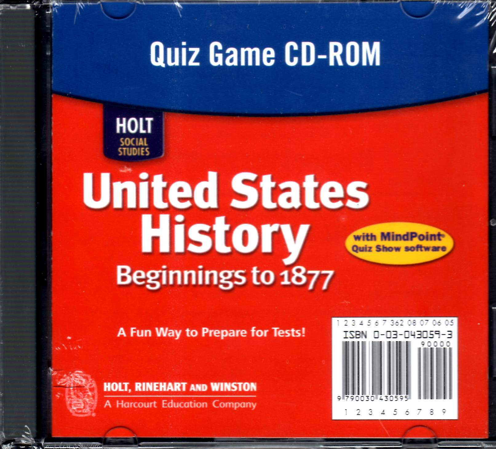 Download Holt Social Studies: United States History: Beginnings to 1877: Quiz Game CD-ROM pdf