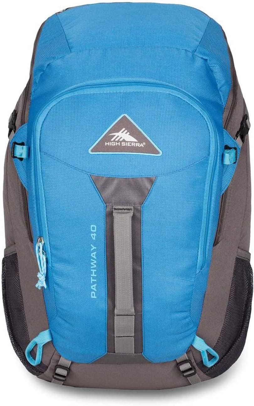 Camping Compatible with 3-Liter Hydration Reservoir Internal Frame Backpack with Hydration Port for Hiking High Sierra Pathway Internal Frame Hiking Backpack 40L or Trekking Adventure