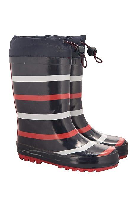 Mountain Warehouse Sunny Botas de Goma para niños Botas Wellington de Lluvia, Entresuela EVA, Suela de Goma, Limpieza fácil, Ligeras para Caminar,