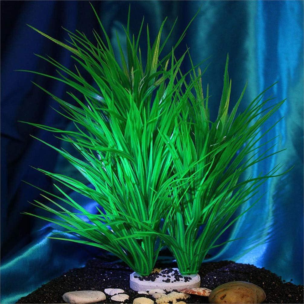 Plastic Fish Tank Plants Decor Ornament Safe for All Fish POPETPOP Artificial Aquarium Plants Green