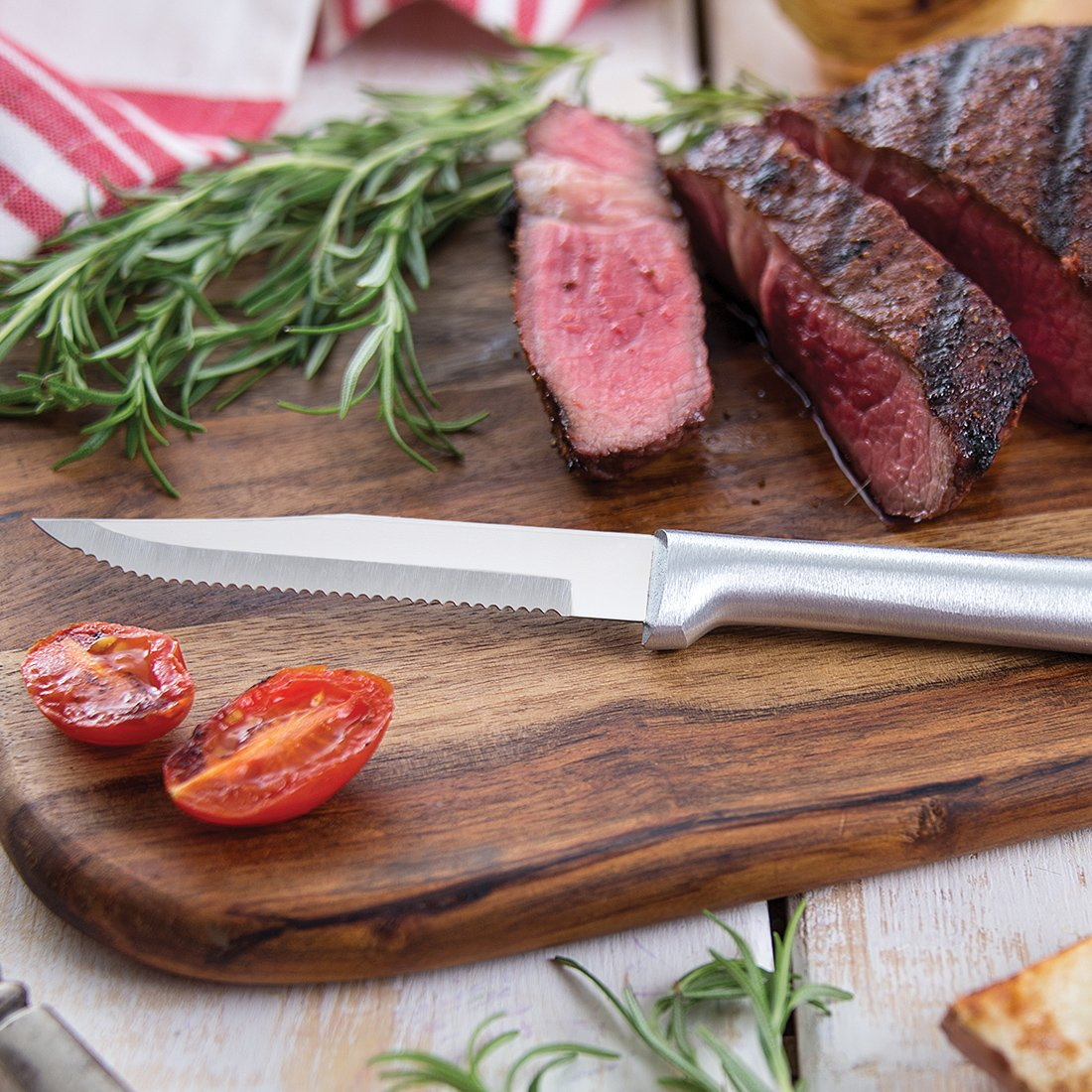 Rada Cutlery Serrated Steak Knife Set - Stainless Steel Knives With Aluminum Handles, Set of 6 by Rada Cutlery (Image #3)