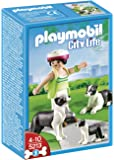 Playmobil - 5213 - Jeu de Construction - Famille de Borders Collies