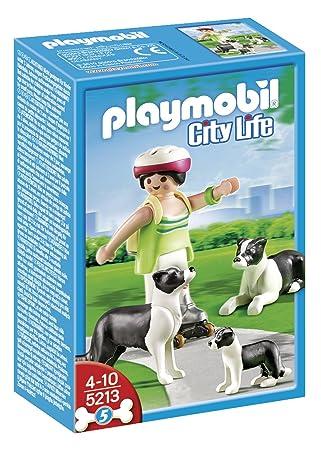 Playmobil - Border Collies con cachorro (5213): Amazon.es: Juguetes y juegos