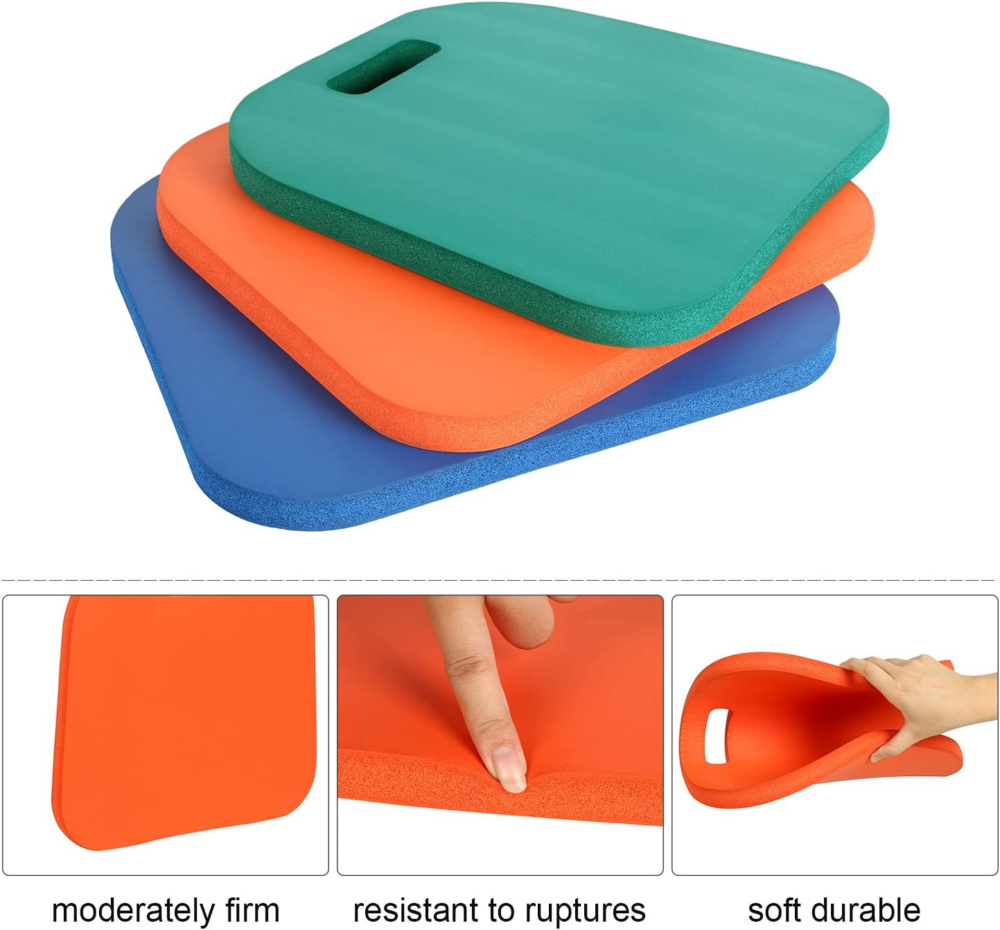 PORTAL 3-Pack Sports Cushion Seat Pad Set for Boat Stadiums Bleachers Chairs
