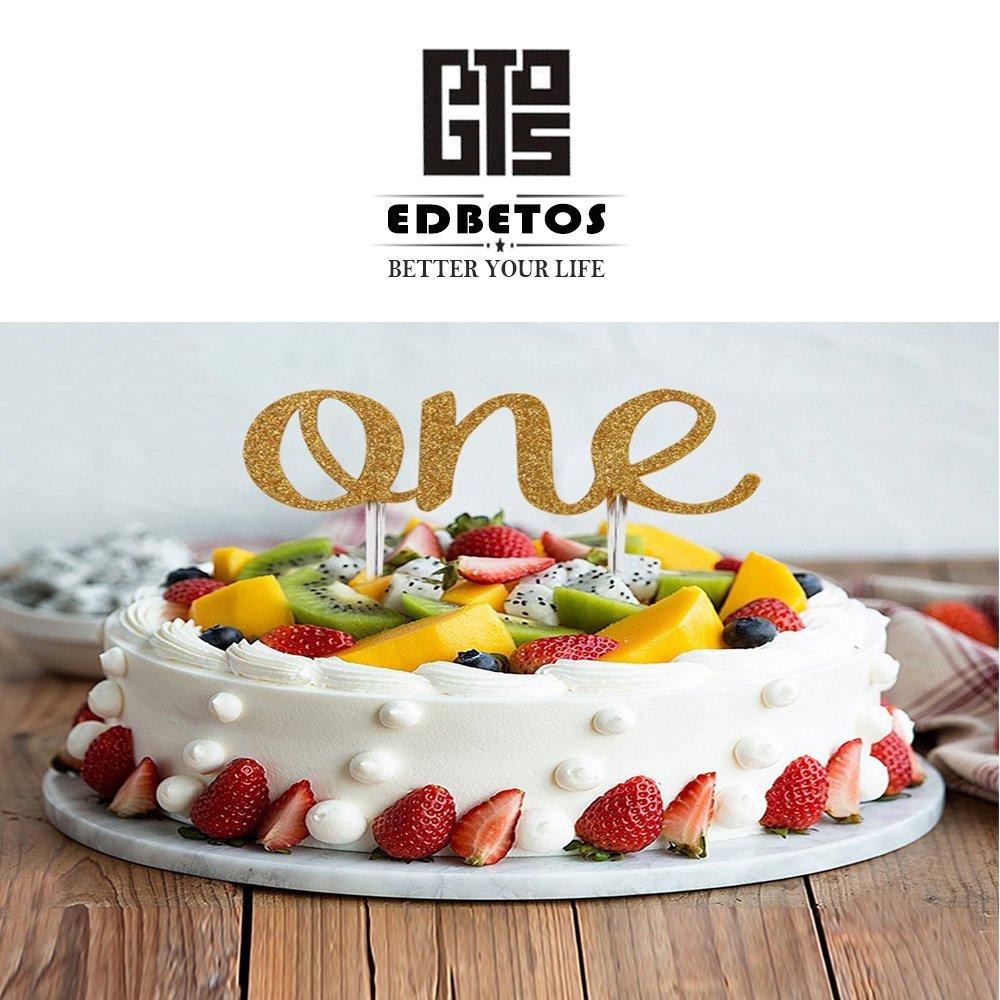 Amazon EDBETOS Handmade 1st First Birthday Cake Topper Decoration