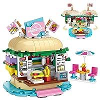 Vimpro Boys Building Blocks Set Toy, 443PCS Hamburger Store STEM Construction Kits, Educational Building Bricks Gift for Age 6-12 Years Old Kids