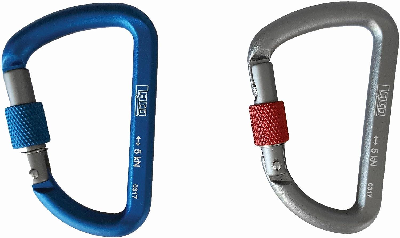 LACD mosquetón, azul, talla única: Amazon.es: Deportes y aire ...