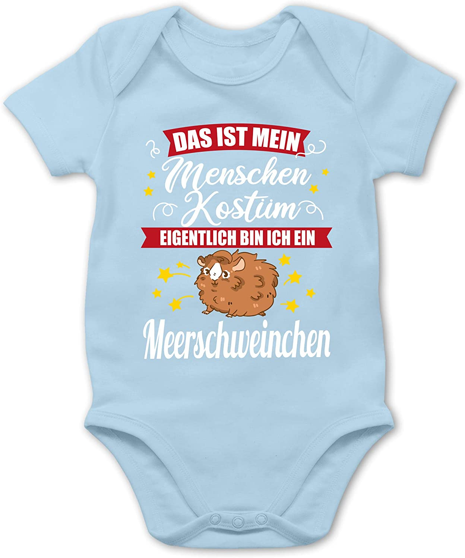 Das ist Mein Menschen Kost/üm Eigentlich Bin ich EIN Meerschweinchen Shirtracer Baby Body Kurzarm f/ür Jungen und M/ädchen wei/ß Karneval und Fasching Baby