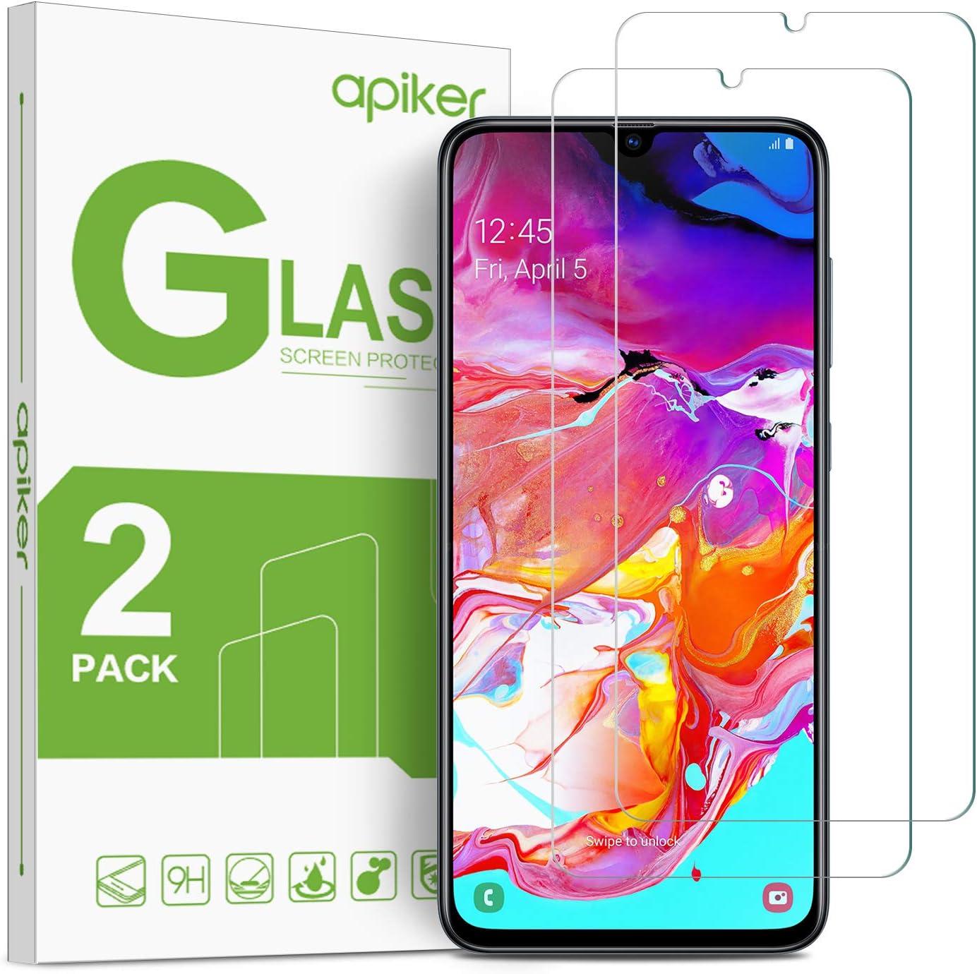 apiker [2-Pack Cristal Templado Completa Compatible con Samsung Galaxy A70, Protector Pantalla Completa para Samsung Galaxy A70, Vidrio Templado Completa con [Alta Definición] [Anti- Arañazo]: Amazon.es: Electrónica