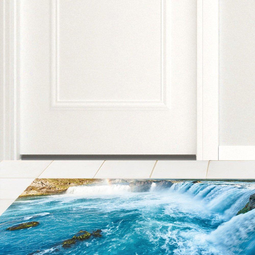 3D non-slip floor surface pvc floor surface kitchen study non-slip floor surface (120x60cm wear)