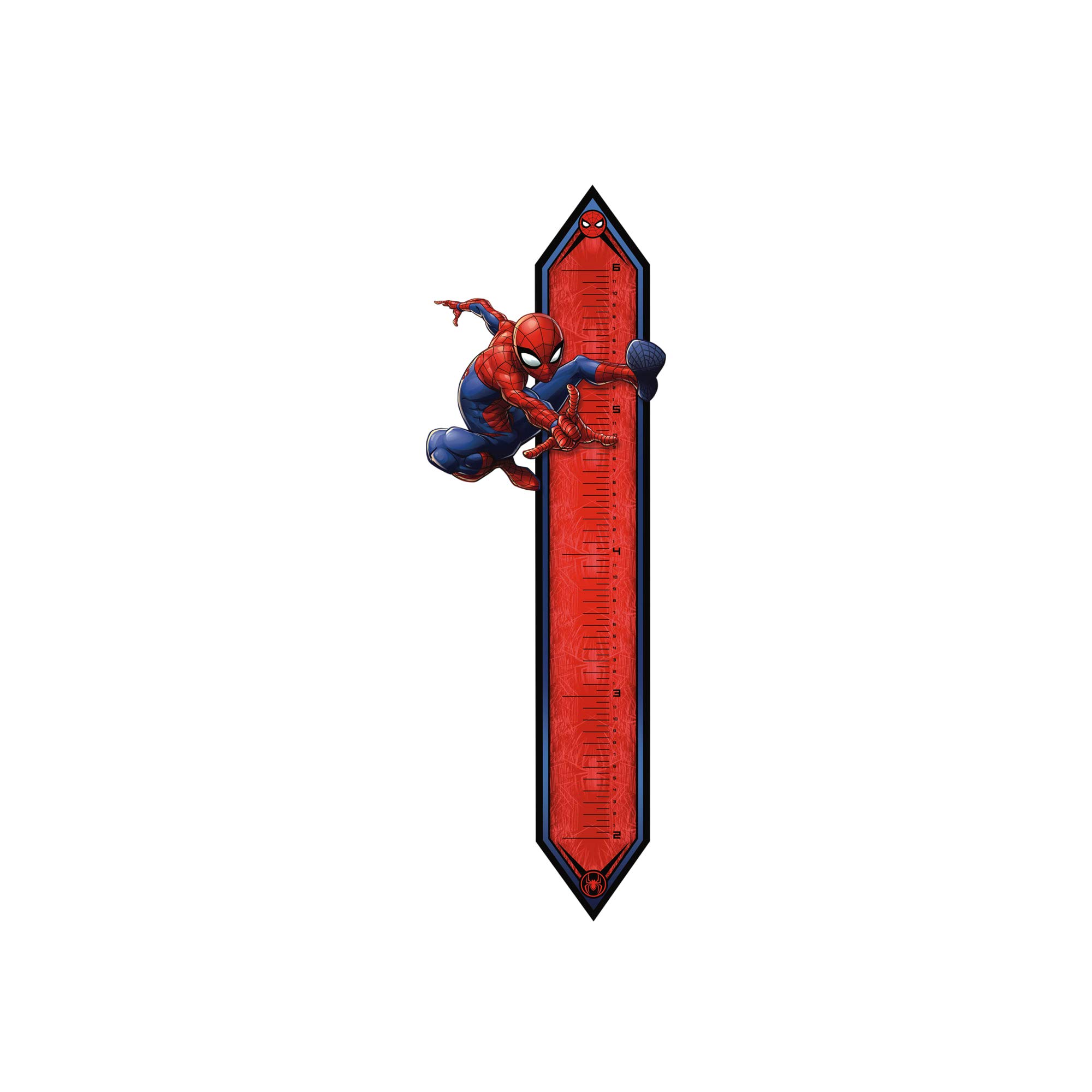FATHEAD Spider-Man: in Action Growth Chart-Giant Officially Licensed Marvel Wall Decal by FATHEAD