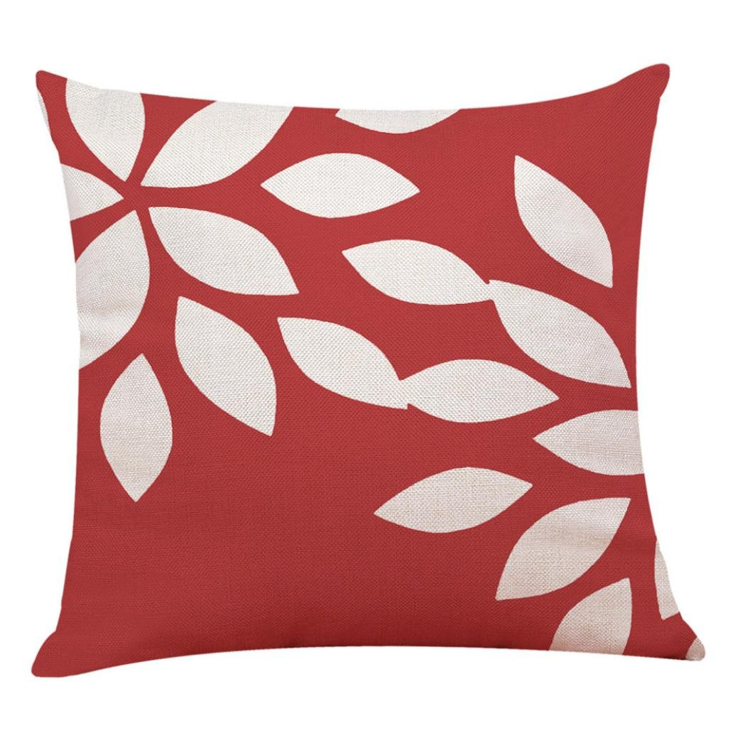 Pillowcase, Zulmaliu Lattice Pillow Cases Geometric Embroidered 18 X 18 Inches (Color B)