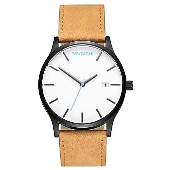 b7bf83381d71a MVMT Classic Watches | 45 MM Men's Analog Minimalist Watch | White Black Tan