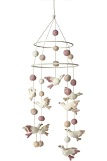 Amazon.com: Pehr Designs cisnes móvil, color blanco y rosa: Baby