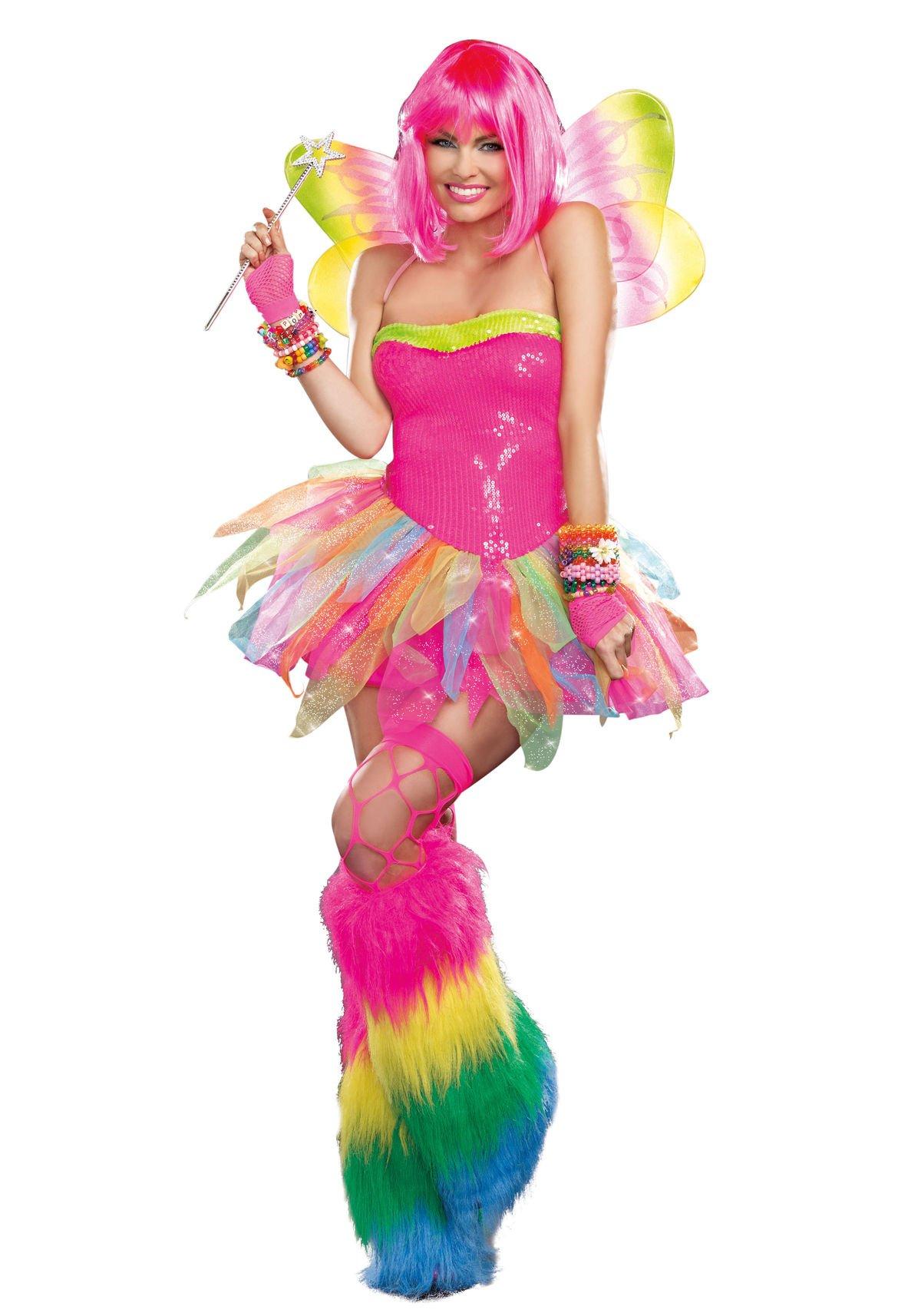 Dreamgirl Women's Rainbow Fairy Costume, Multi, Large