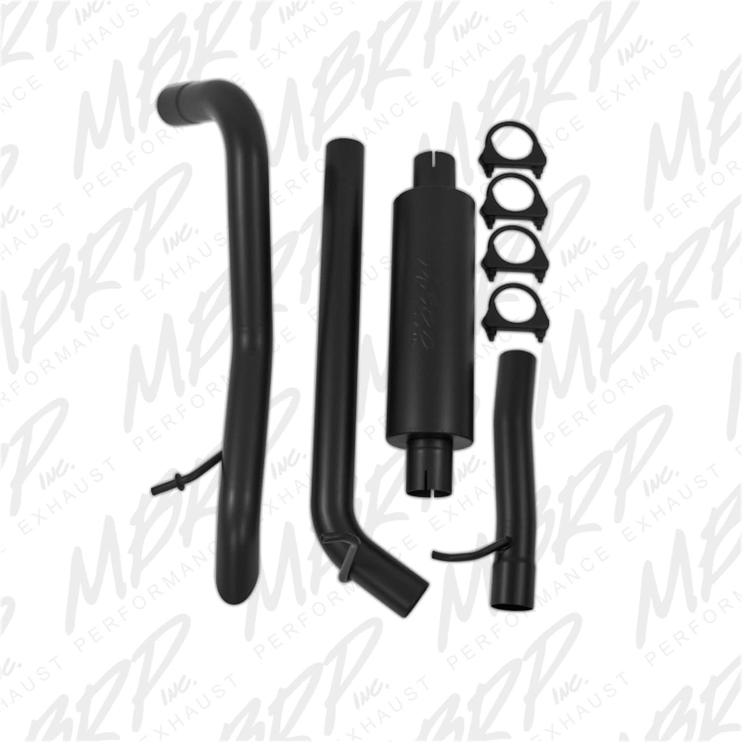 MBRP S5514AL Muffler before Axle Aluminized Off-Road Tail Pipe