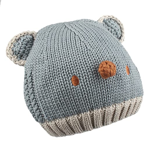 IMLECK Little Girls Boys and Infants Cotton Lined Knit Hat