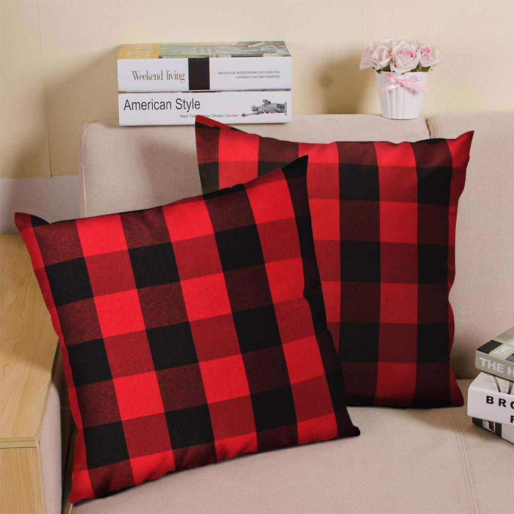 A-QMZL Decorative Pillows for Couch Throw Covers Linen Cushion 18 x 18 Inch Protectors Sofa