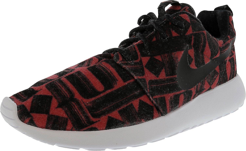designer fashion f4226 2f4ed Nike Women s Roshe One Print Ember Glow Black-Black-White Ankle-High Fabric  Running Shoe - 7. 5M  Amazon.in  Shoes   Handbags