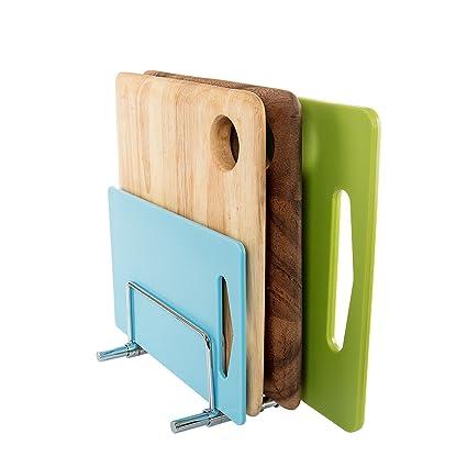 Rack para cocina en acero inoxidable SbS, rack para tablas de cortar y bandejas,