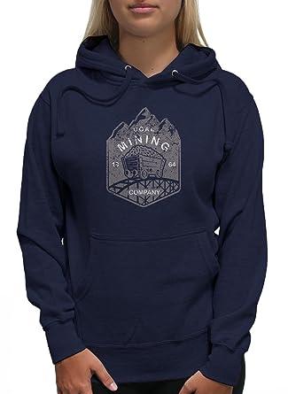 Amazon.com  Young Motto Women s Coal Mining CO. Hoodie  Clothing 9ca3798485