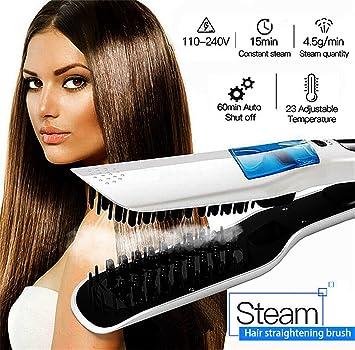 Amazon com: Steam Professional Iron Hair Roller Straightener Fast
