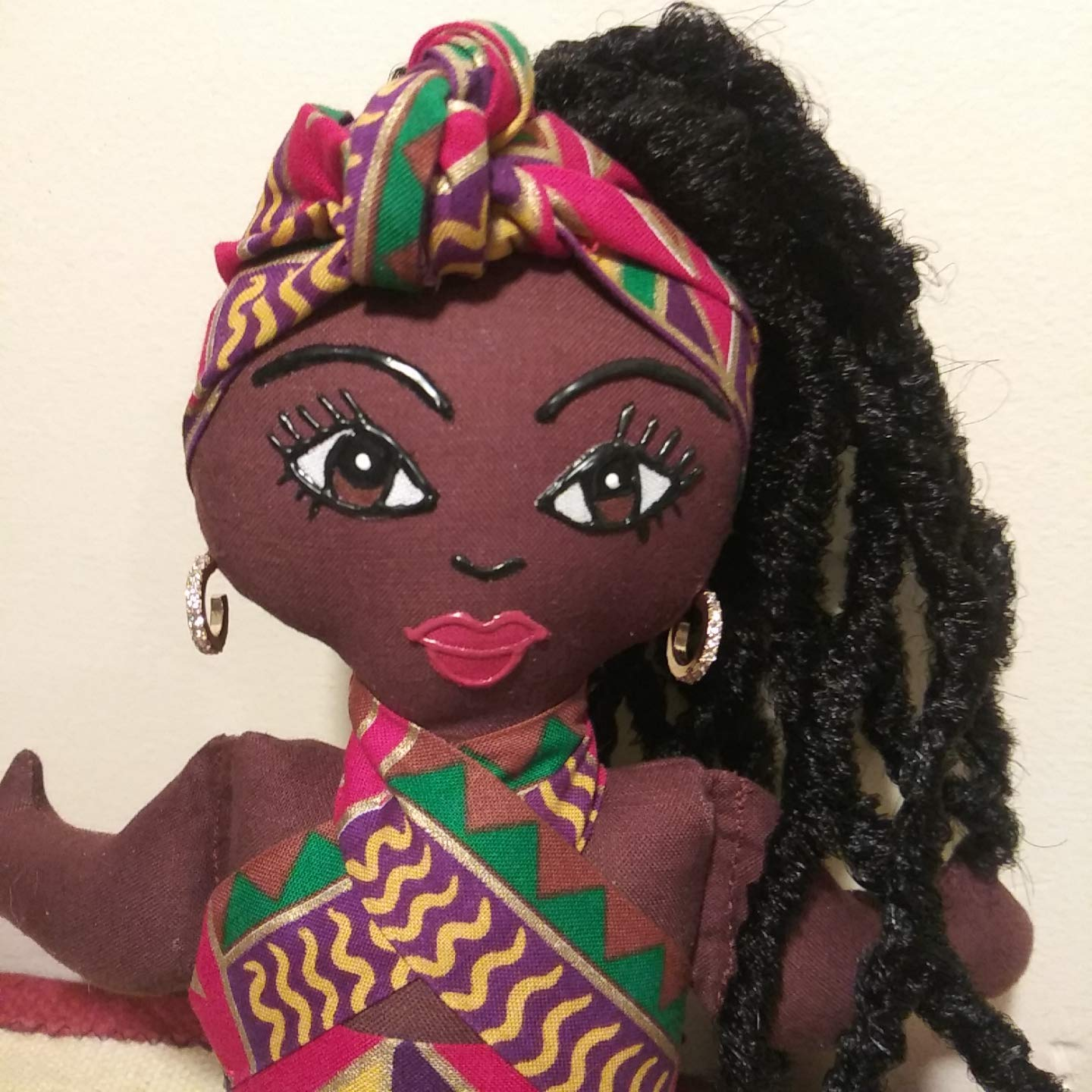 Collectible Doll Multicultural Doll Natural Hair Styles 14 inch Doll Black Doll Hand Painted African American Doll Black Doll Maker Ethnic Doll African Inspired Handcrafted