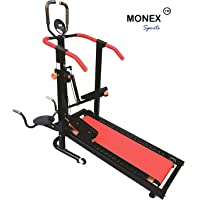 Monex 4 in 1 Manual Multi-function Foldable Jogger Treadmill