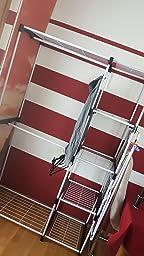 amazonbasics freistehender kleiderschrank kleiderst nder mit zwei kleiderstangen wei. Black Bedroom Furniture Sets. Home Design Ideas
