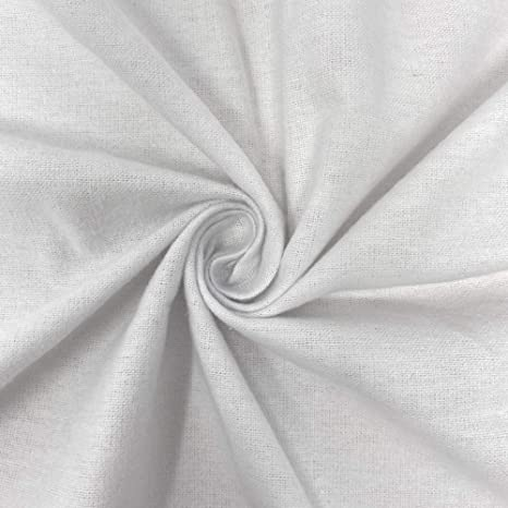 60 Wide Organic Cotton Flannel Fabric Sold by The Yard.