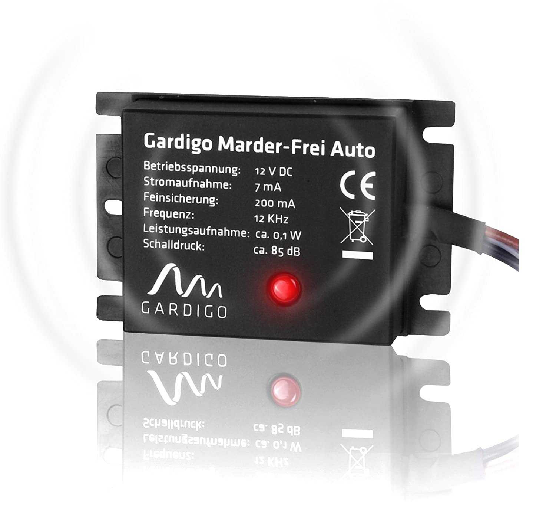 Gardigo Marten Free Car, Marten Deterrent, Connection to 12 V Car Battery, Gentle Marten Protection as Car Accessory Connection to 12V Car Battery Tevigo 78405