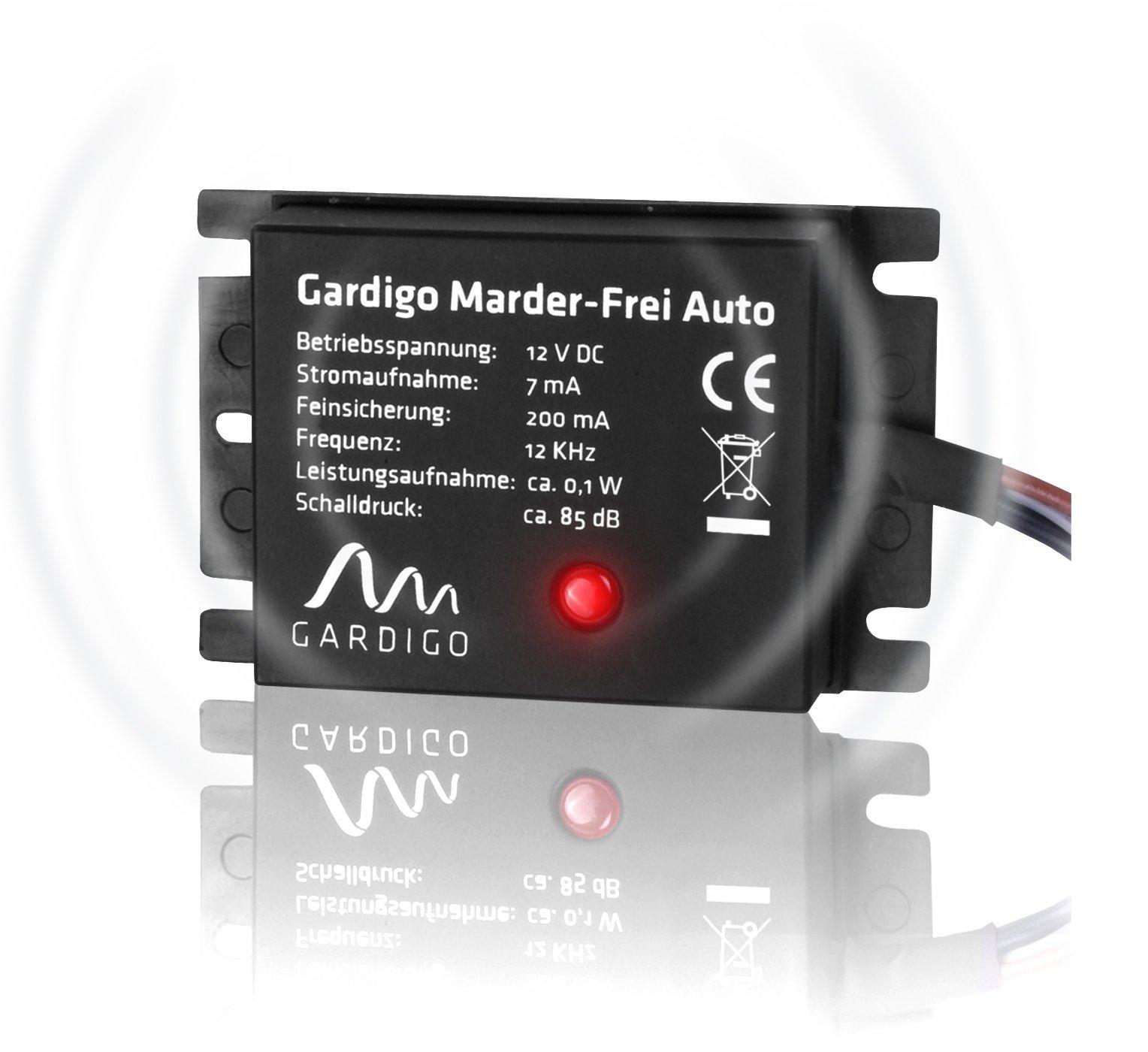 Gardigo Marder-Frei Auto, Marderschreck, Anschluss an 12V Autobatterie, schonender Marderschutz als KFZ - Zubehör product image