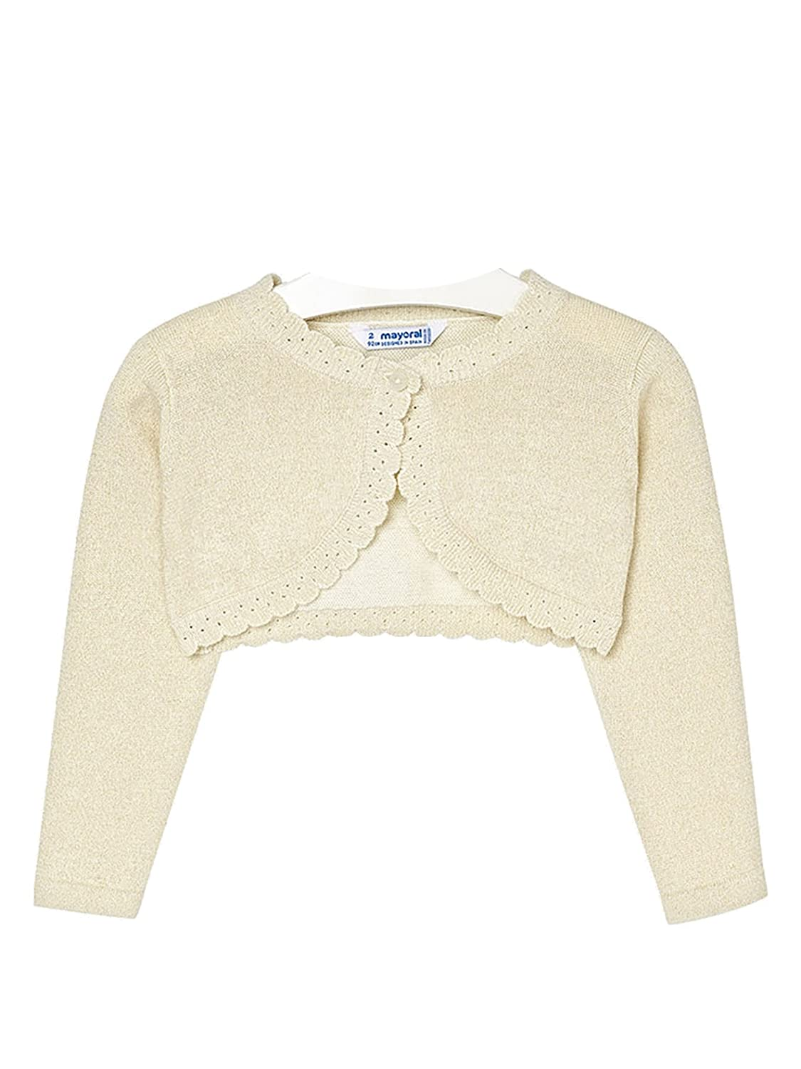 0314 Basic Knitted Cardigan for Girls Mayoral Champagne