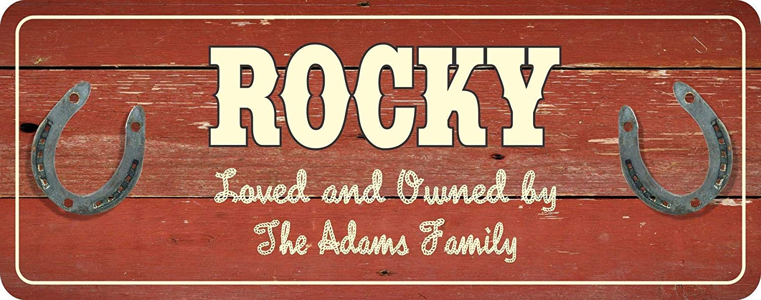 Vintage Road Sign SIZES Personalised Family Name plaque Posh New House Gift