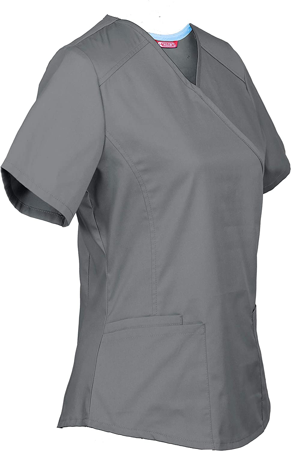 TAILORS Personalized Customizable Embroidered Womens Medical Scrub Top