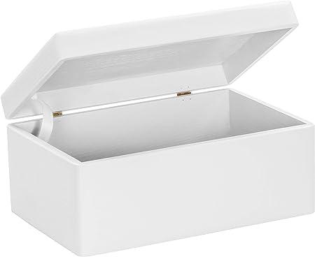 Grinscard Caja de Madera Universal con Tapa para Almacenamiento ...