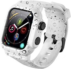 PEIYUI Apple Watch 42mm Series 3/2 Case, IP69 Waterproof Case with Full Body Protection Design, Dustproof Shockproof Snowproof Waterproof Apple Watch Case 42mm Series 3 Series 2 (White, 42MM)